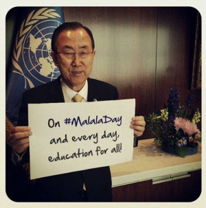Secretary-General Ban Ki-moon posted his first photo on Instagram ...