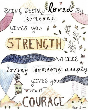 Strength and courage.