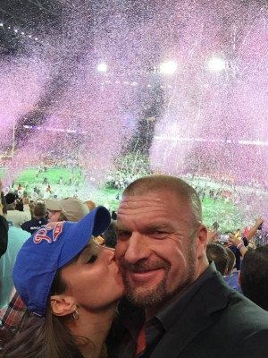 Triple H and Stephanie At Superbowl 49