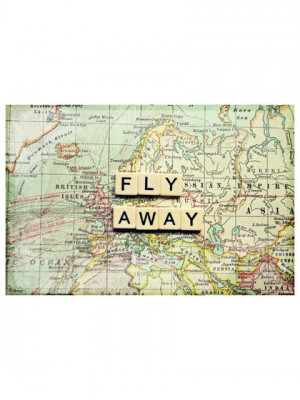 Fly Away by Marmont Hill #typography #travel #MarmontHill