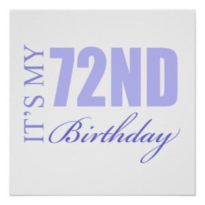 72nd Birthday Gift Idea Posters