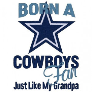 Embroidered Saying OnesieDallas CowBoys FanBaby by BetterThanBows, $19 ...