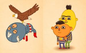 Funny Famous Cartoon Characters Funny cartoon illustrations of