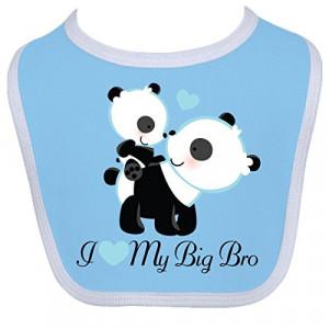 inktastic baby boys i love my big brother baby bib one size blue white