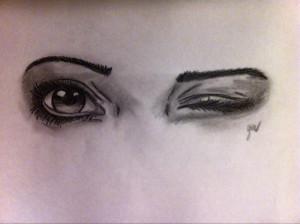 Winking Eye Drawing