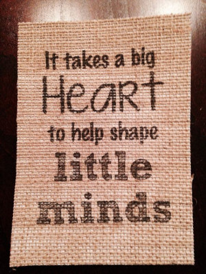 It takes a big heart quote great teacher gift by FreshlyStated, $8.00