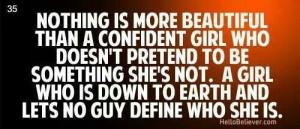 Confident girl
