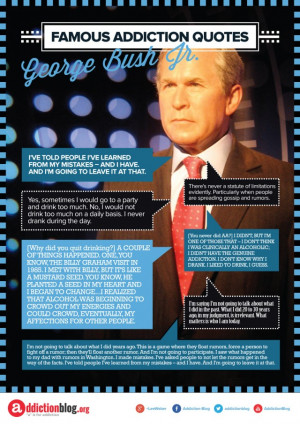 George W. Bush alcoholism and drug use quotes (INFOGRAPHIC)