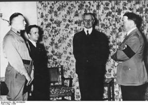 Hjalmar Schacht and Adolf Hitler, 1936