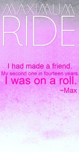 Maximum Ride Maximum Ride Quote
