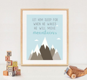 LET HIM SLEEP printable quote baby boy nursery by LillyLaManch, $5.00