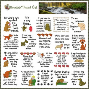 These are some of my favourite quotes about dogs. Mountain Thread Art ...