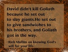 Rich Mullins Quote on knowing God's will for your life. More