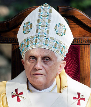 Pope Benedict XVI; at a joint