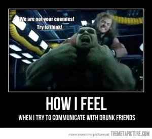 Funny photos funny Thor vs Hulk Avengers