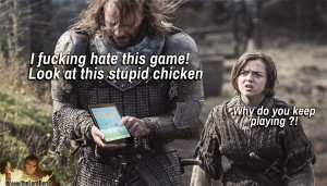 the hound playing chicken game