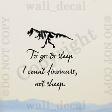 ... Sleep I Count DInosaurs Vinyl Wall Decal Sticker Quote Hunting Nursery