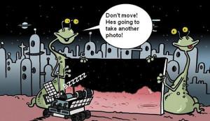 Funny photos funny Mars aliens Rover robot