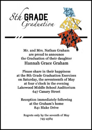 save with free graduation 8th grade announcements and invitations with ...