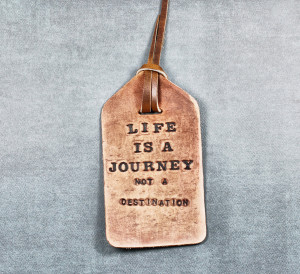 ... , Name Tag or Luggage Tag with Emerson Quote from Divina Denuevo