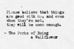 quote submission The Perks Of Being A Wallflower Stephen Chbosky most ...