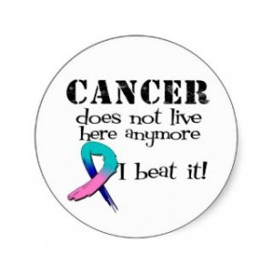 Thyroid Cancer Tri Color Ribbon Stickers, Thyroid Cancer Tri Color