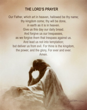 prayer during prayer after prayer and in our daily lives