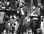 gang song scene from West Side Story; click to gang songs page