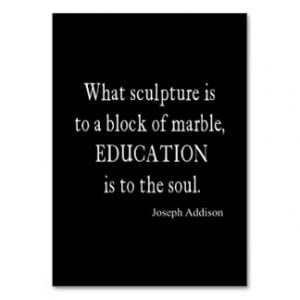 Vintage Addison Education Soul Quote Template Large Business Cards ...