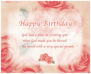 Happy Birthday Wishes for Good Friends, Special Person
