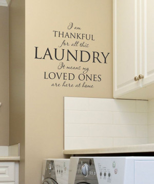 Black 'I Am Thankful for All the Laundry' Wall Quote on zulily today!