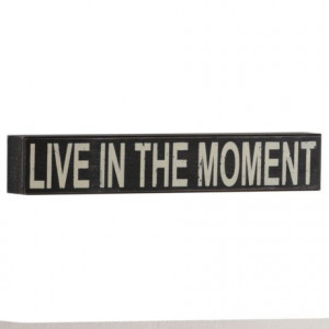 ... Plaque #kirklands #thoughtsforthehome #liveinthemoment #quotes #Live