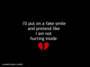 black, broken, broken heart, fake, hurting, inside, pretend, red ...