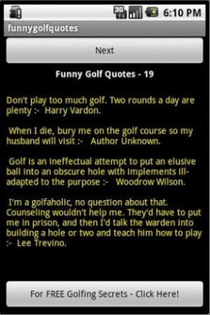 View bigger - Funny Golf Quotes for Android screenshot