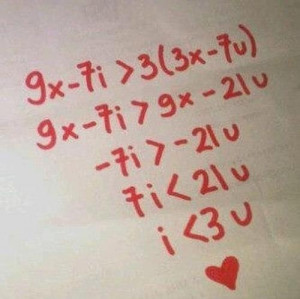 Love You Equation for My Darling Math Geeks