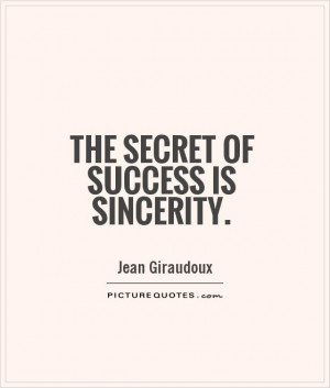 Sincerity Quotes And Sayings Success quotes sincerity