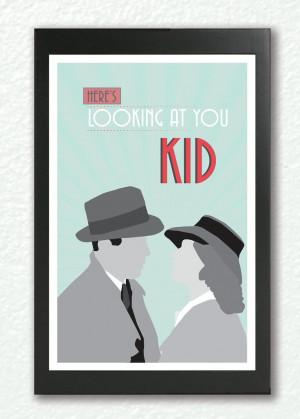 Casablanca,Classic Movie Poster, quote poster, romantic print,