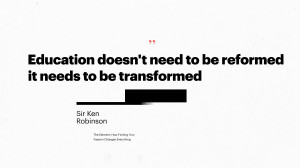TEDxHK Sir Ken Robinson quote
