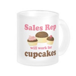 Cute Sales Rep Cupcake Design Gift Mug