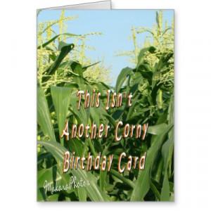Corny Birthday Cards