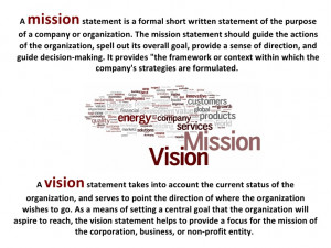 Restaurant Vision and Mission Statement