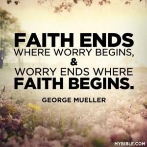 Faith not fear.....