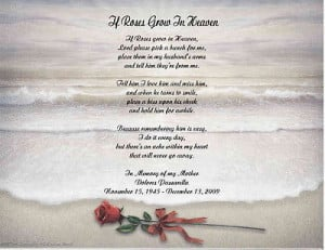 Memorial Personalized Poem Loss of Daughter Mother, Husband, Father or ...
