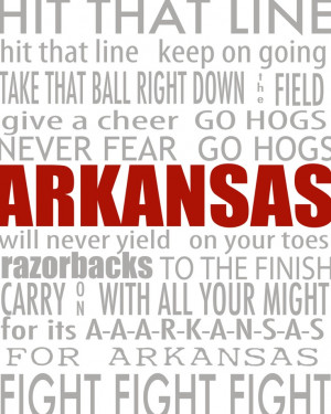 Arkansas Razorback Fight Song / Campus Attractions Printable Subway ...