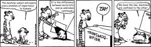 Calvin and Hobbes with quotes from Frank Herbet's Dune
