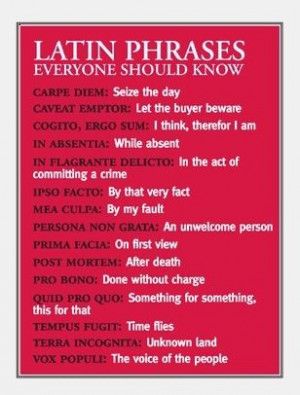Latin Phrases Everyone Should Know