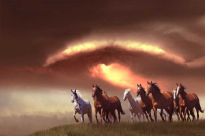 ... and the sun's radiant life, one need only to look at the horse