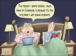 Facebook humor: Beside manner