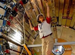 CERN experimental physicist Fabiola Gianotti in the ATLAS detector, 14 ...