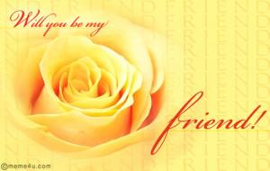 friendship proposal card, floral friendship proposal ecard, friendship ...